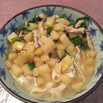 青椒土豆肉丝面