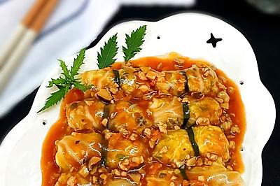 茄汁菜包卷#德国Miji爱心菜#