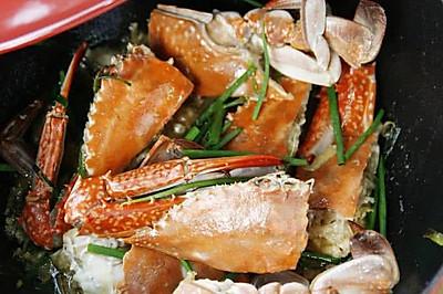 豆果独家:葱姜炒蟹