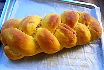 南瓜椰蓉辫子面包(无糖低油低脂,附低脂椰蓉馅做法)的做法
