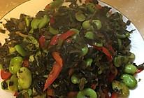 蚕豆炒雪菜的做法