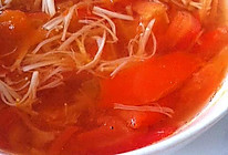 【高纤减肥治便秘】番茄金针菇汤的做法