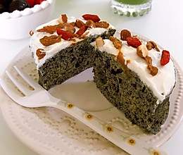 黑芝麻小蛋糕|微波炉版的做法