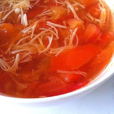【高纤减肥治便秘】番茄金针菇汤