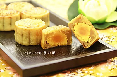 蛋黄莲蓉月饼#青春食堂#