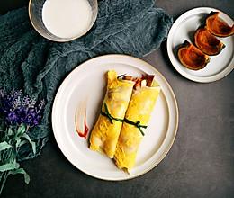 快手早餐鸡蛋手卷的做法