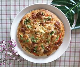 #精品菜谱挑战赛#鲜虾火腿披萨的做法