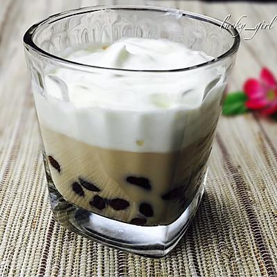 奶盖珍珠奶茶-完全自制