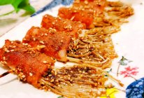 #太太乐鲜鸡汁玩转健康快手菜#培根金针菇卷的做法