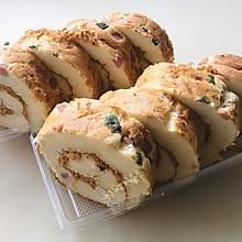 葱香-香肠肉松蛋糕卷
