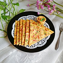 西红柿鸡蛋饼#雀巢营养早餐#