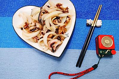 快手洋葱鱿鱼须:轻松6步搞定美味海鲜