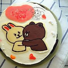 献给爸妈的结婚纪念日蛋糕【附巧克力转印详细过程】