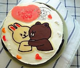 献给爸妈的结婚纪念日蛋糕【附巧克力转印详细过程】 的做法