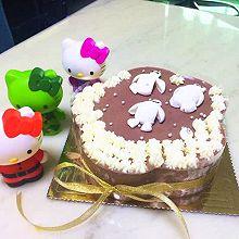 雙層朱古力慕斯蛋糕