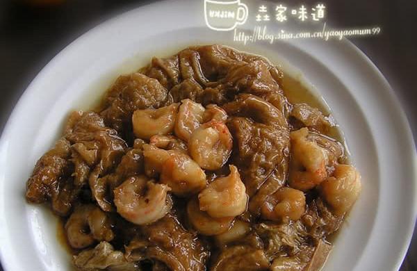 天津卫都知道的特色名菜【虾仁独面筋】