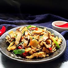 香菇炒鸡肉