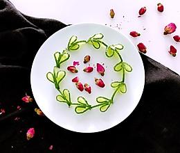 """黄瓜的创意吃法#""""宴""""遇灵山 拈花品素#的做法"""