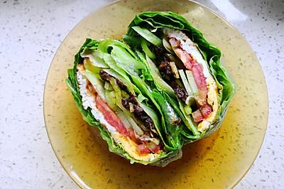 素食版关晓彤蔬菜三明治