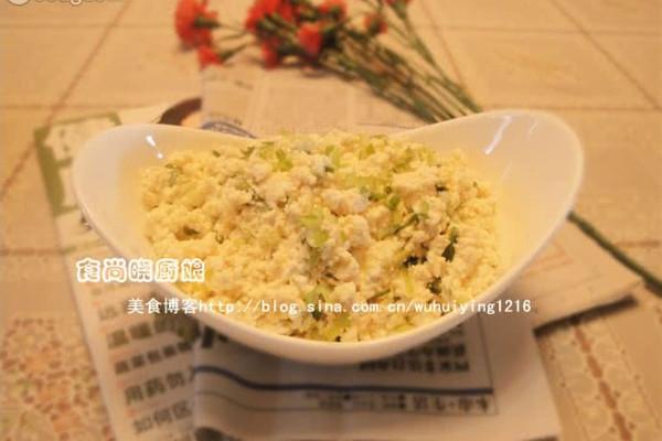 小葱拌豆腐的做法