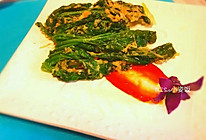 酥炸菠菜的做法
