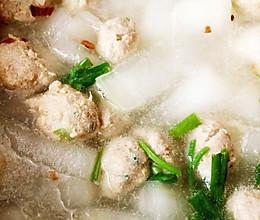 冬瓜干贝肉丸汤的做法
