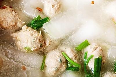 冬瓜干贝肉丸汤