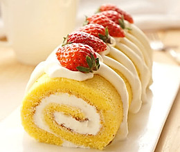 草莓鲜奶油蛋糕卷的做法