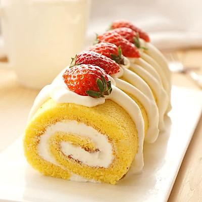 草莓鲜奶油蛋糕卷