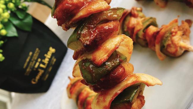 低脂烤肉串!墨西哥蔬菜鸡肉串的做法