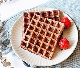 巧克力华夫饼的做法