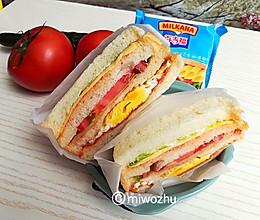 芝士三明治#百吉福食尚达人#的做法