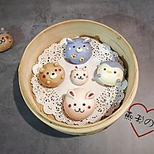 #硬核菜谱制作人#【奶黄包】新萌宠团子