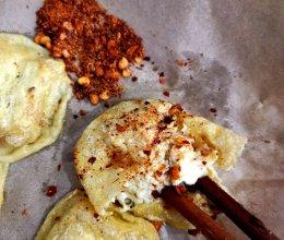 外酥内嫩的无油包浆豆腐的做法