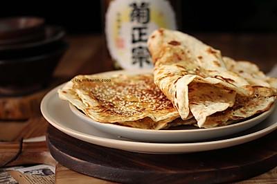 湖北大悟縣特色小吃,香蔥鮮肉薄餅