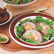 水晶鸡胸卤肉卷