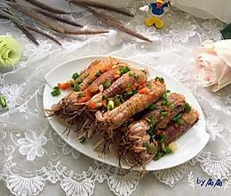 吮指椒盐濑尿虾的做法