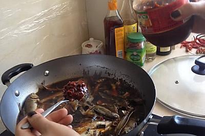 煮小杂鱼、