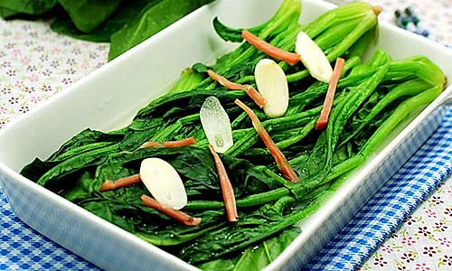 [上汤菠菜]—菠菜的鲜美吃法的做法