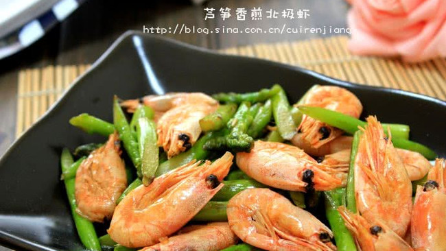 芦笋香煎北极虾的做法