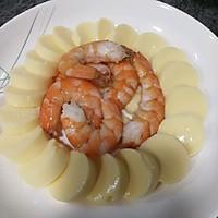 #憋在家里吃什么#减脂餐鲜虾蒸日本豆腐的做法图解5