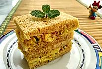 #今天吃什么#葱花鸡蛋全麦三明治的做法