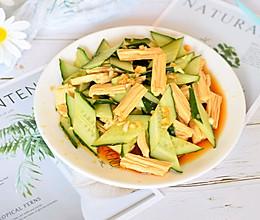 凉拌黄瓜腐竹的做法