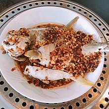 蒜蓉豆豉蒸海鲳鱼