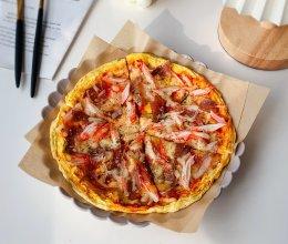 #安佳万圣烘焙奇妙夜#无面粉版西葫芦蛋饼披萨的做法