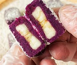 紫薯香蕉小方 9+宝宝辅食的做法