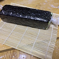 花样寿司---方型火腿花瓜鸡蛋卷的做法图解7