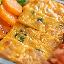 #硬核菜谱制作人#香葱火腿厚蛋烧|元气早餐