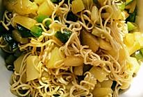 土豆大青椒炒面素食的做法