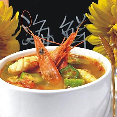 藏红花风味海鲜汤